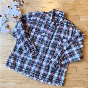 PATAGONIA organic cotton flannel shirt size Medium